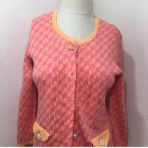Lilly Pulitzer Pink sweater cardigan top button up